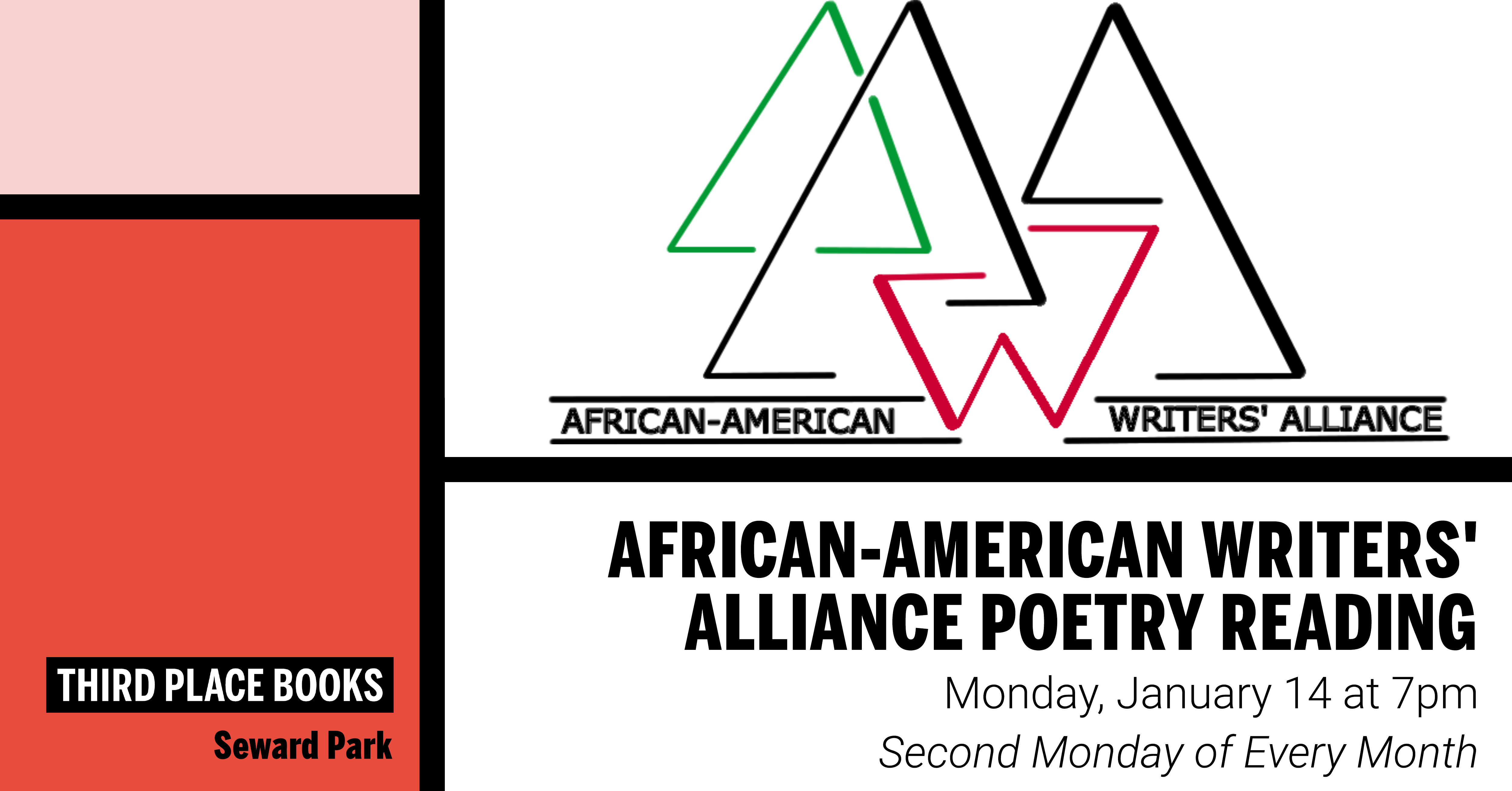 African-American Writers' Alliance Poetry Reading on Monday, January 14 at 7pm