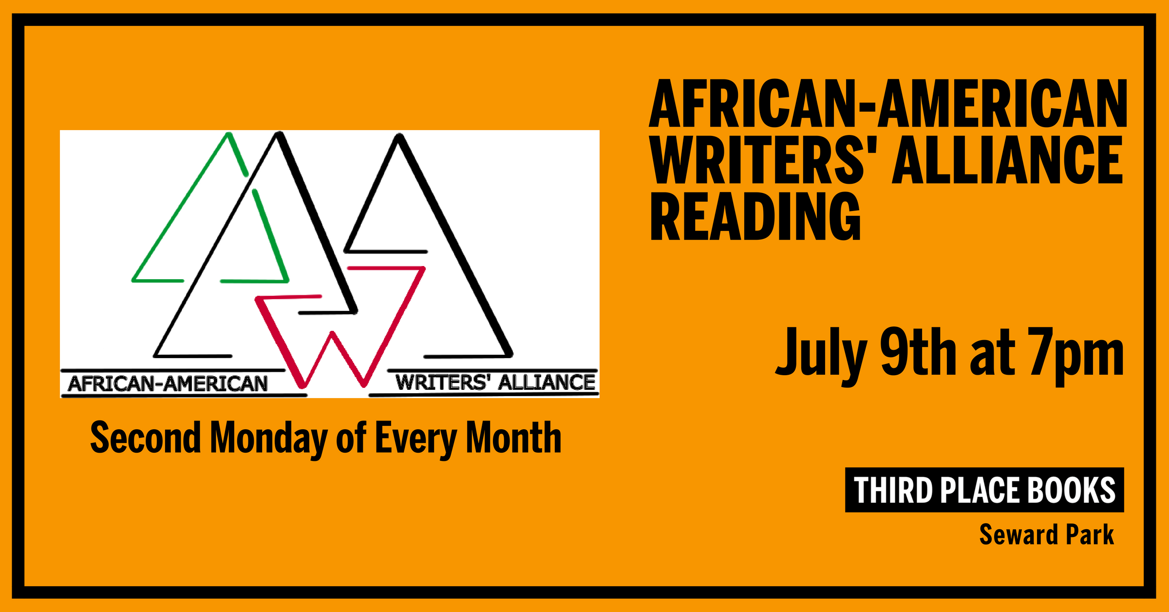 African-American Writers' Alliance Reading on July 9th at 7pm