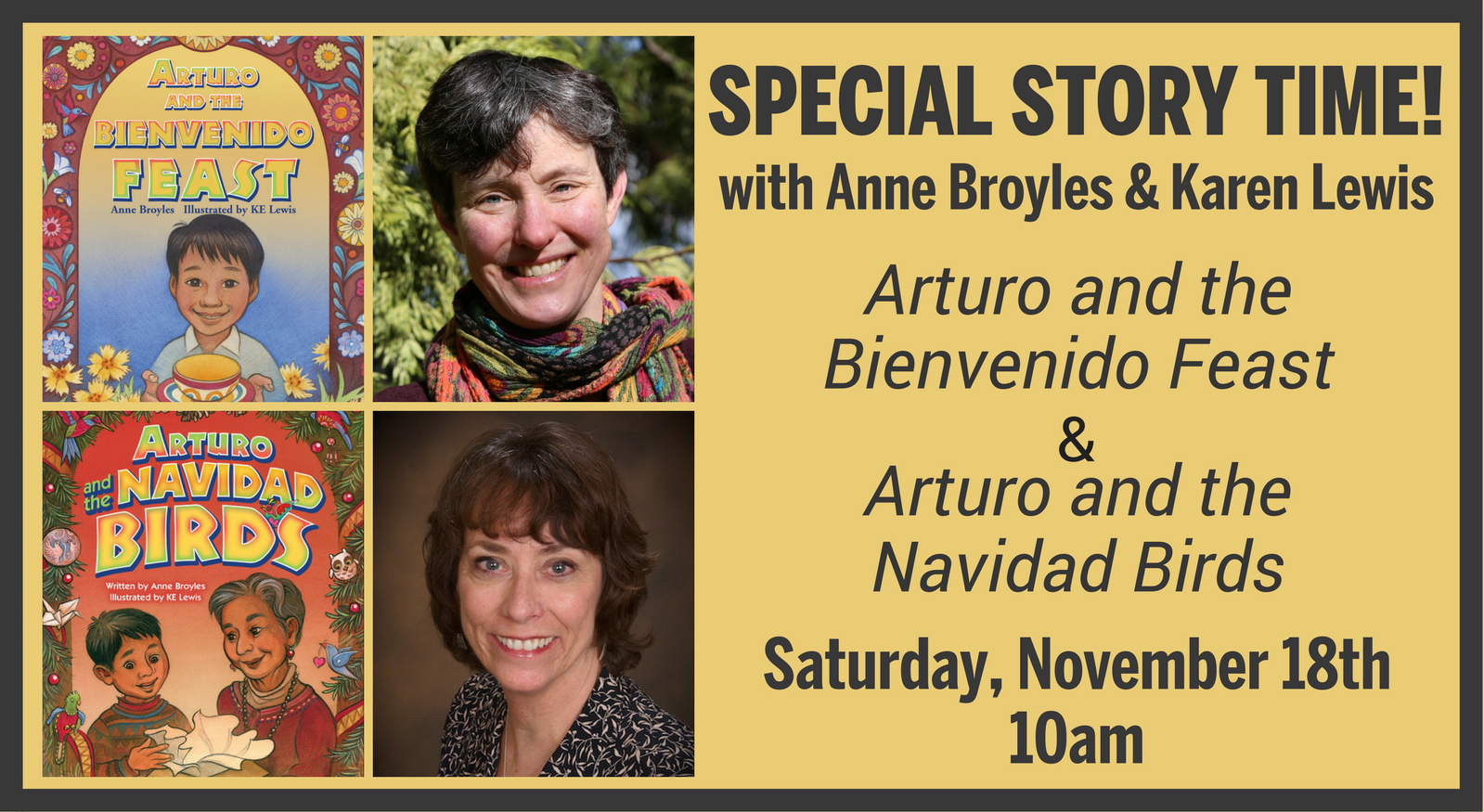 Special Story Time! with Anne Broyles & Karen Lewis