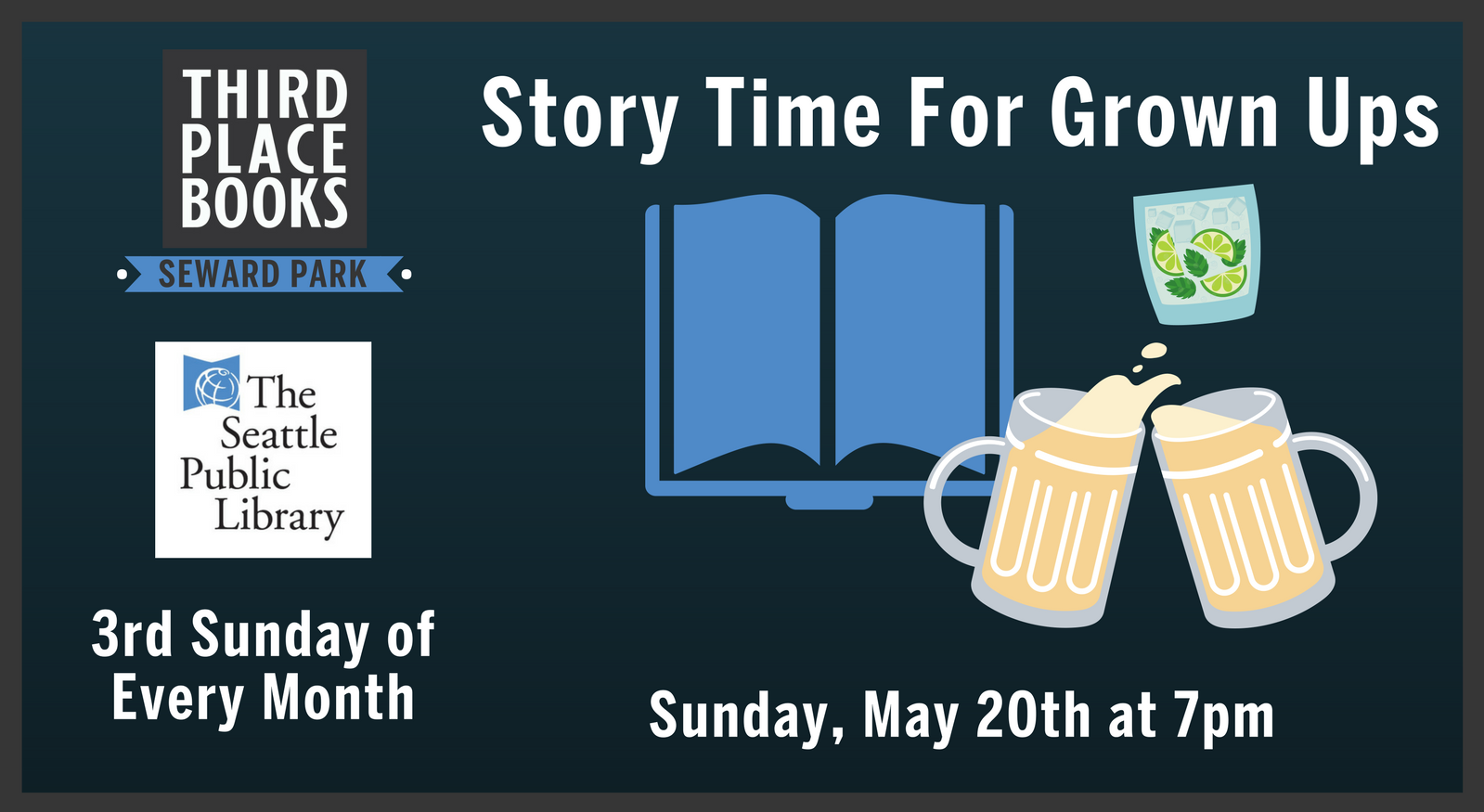 Story Time for Grown Ups! on Sunday, May 20th at 7pm