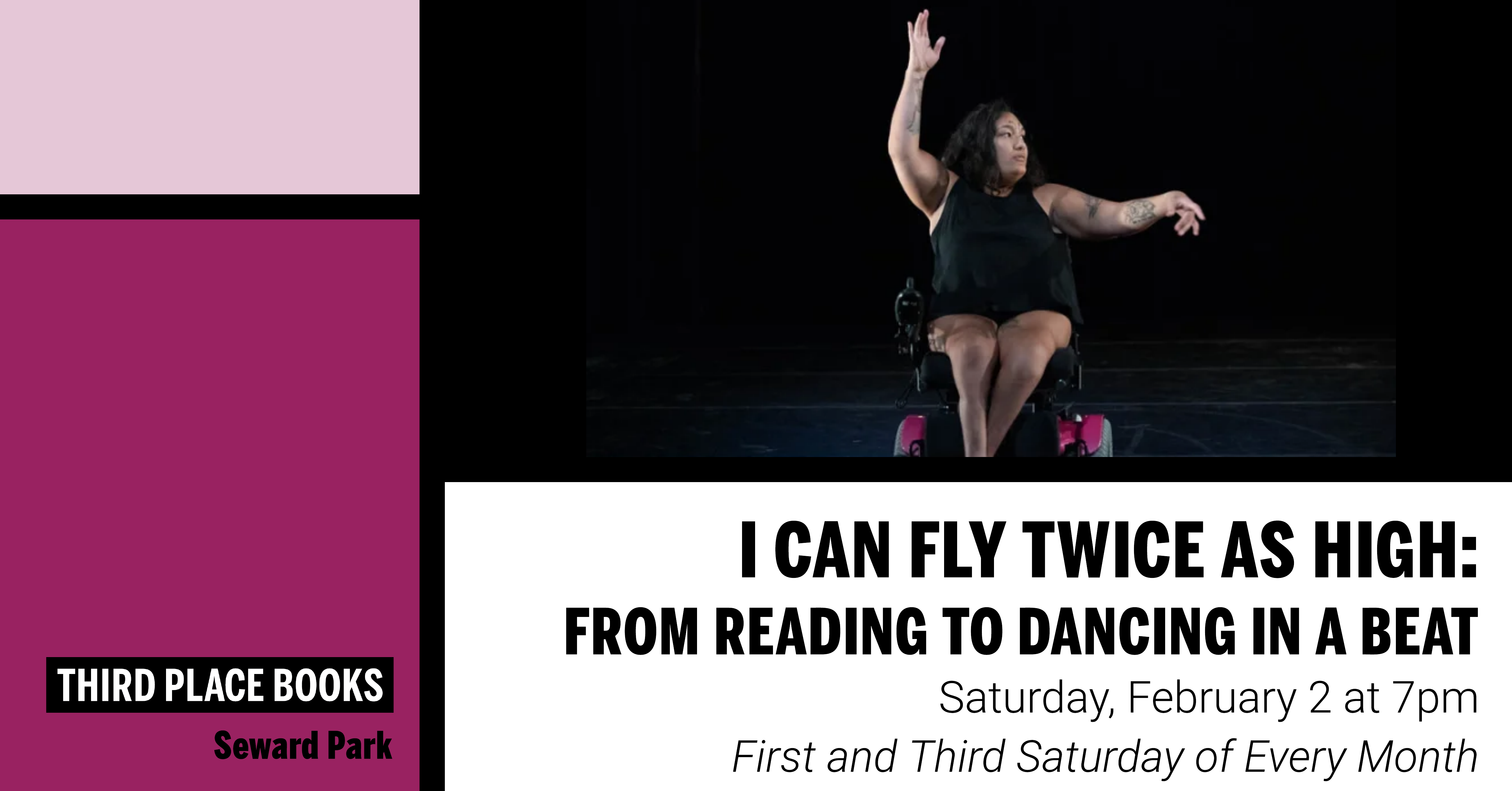 I Can Fly Twice As High: A dance class with Neve on Saturday, February 2 at 7pm
