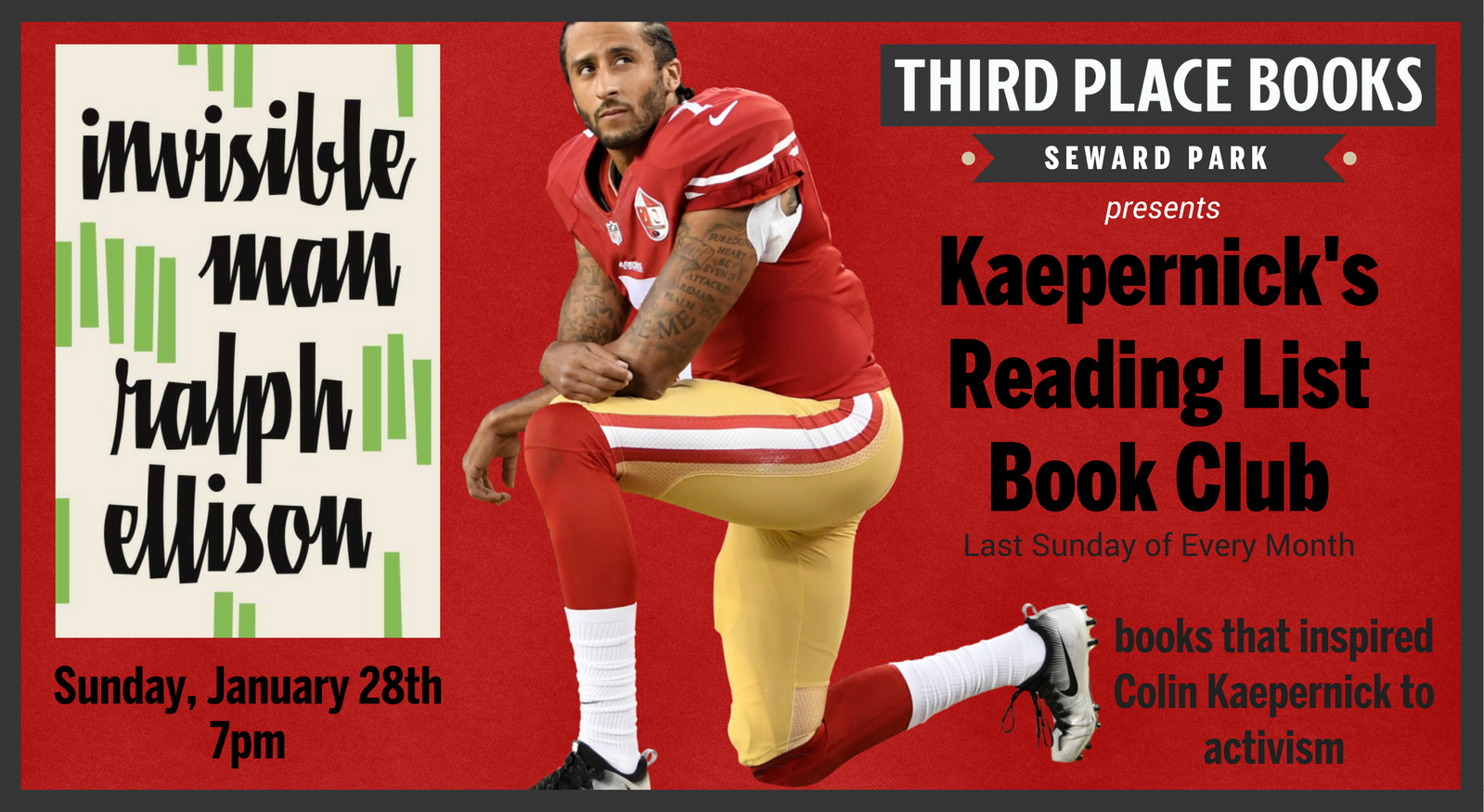kaepernicks reading list book club find polling place by address places to cash checks late night