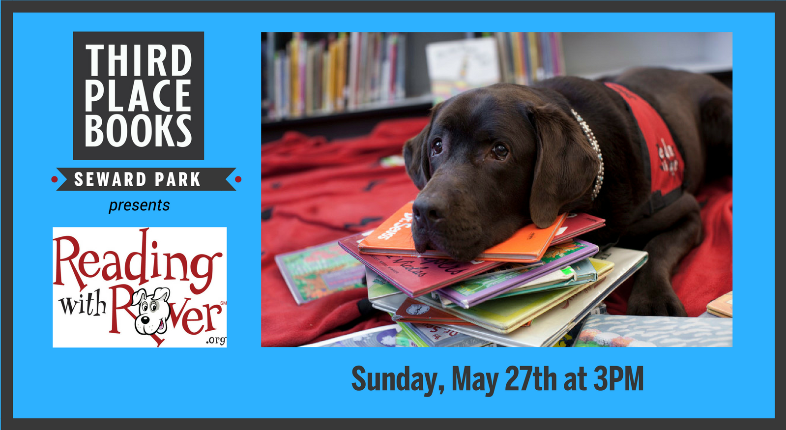 Reading With Rover! Sunday, May 27th at 3pm