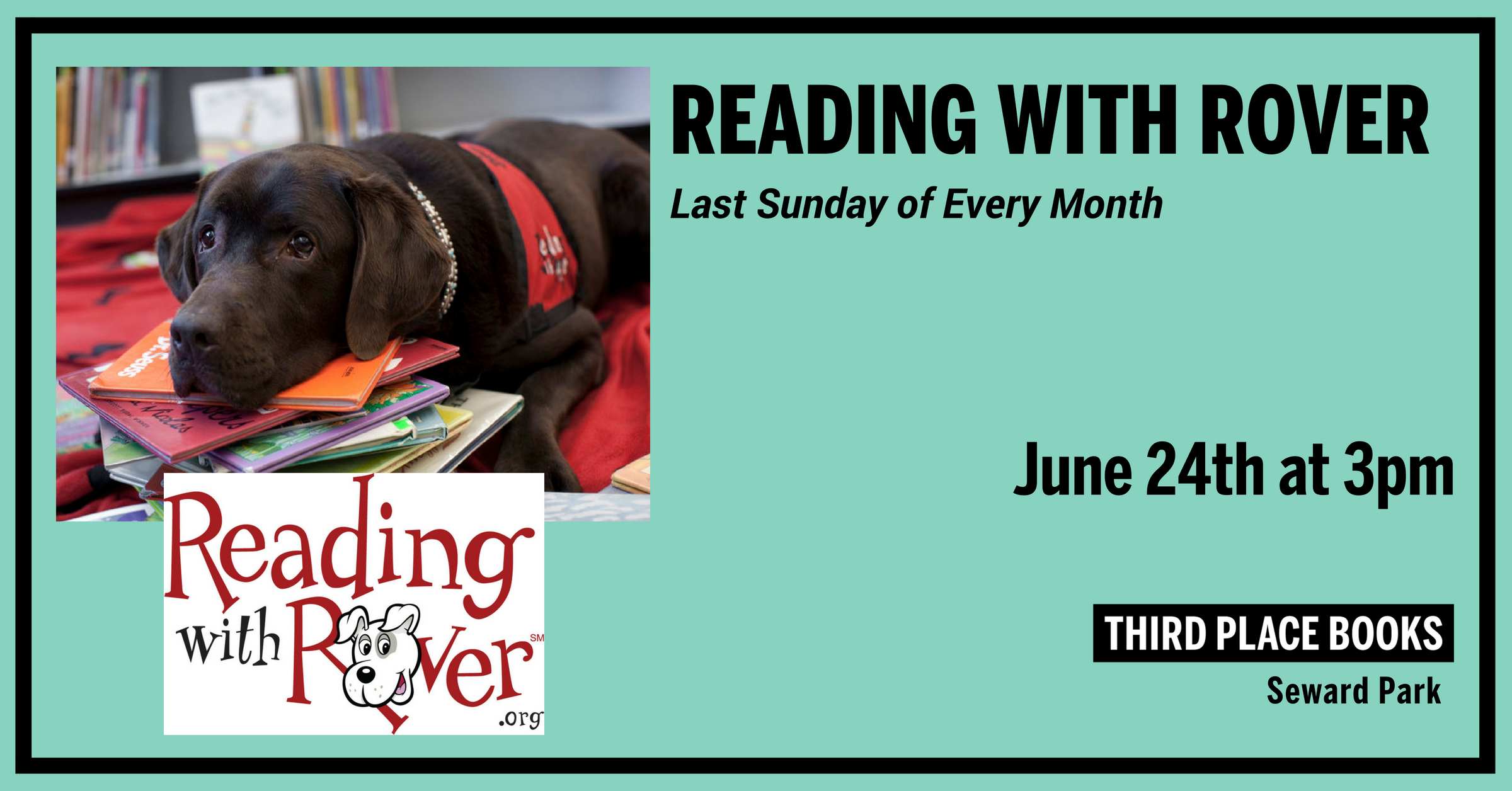 Reading With Rover! Sunday, June 24th at 3pm