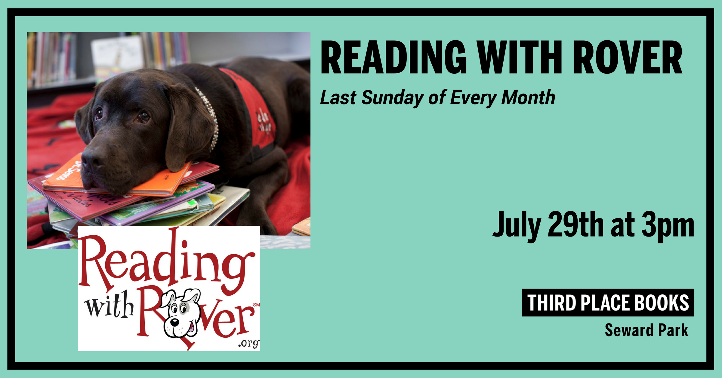 Reading With Rover! Sunday, July 29th at 3pm