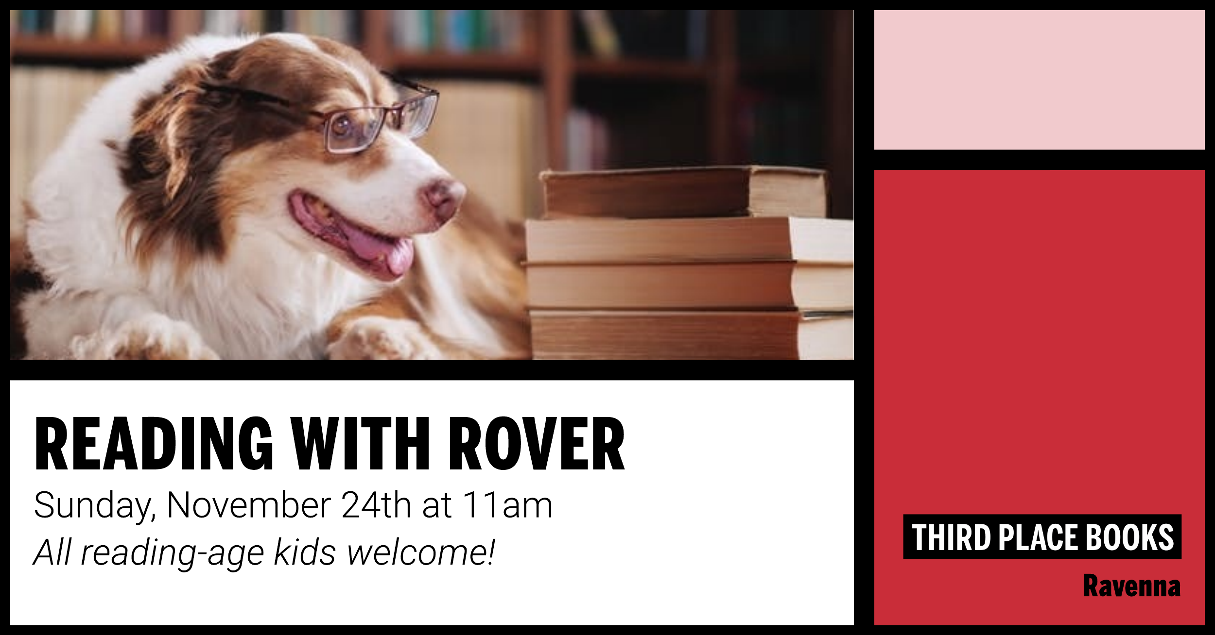Reading With Rover! Sunday, November 24th at 11am