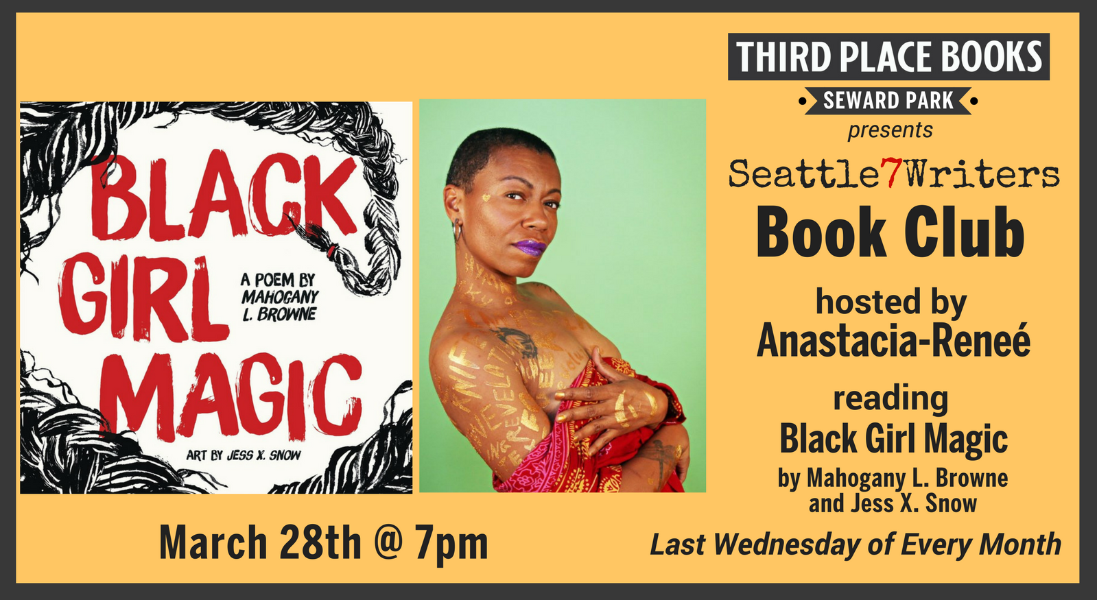 Seattle7Writers Book Club hosted by Anastacia-Reneé reading Black Girl Magic