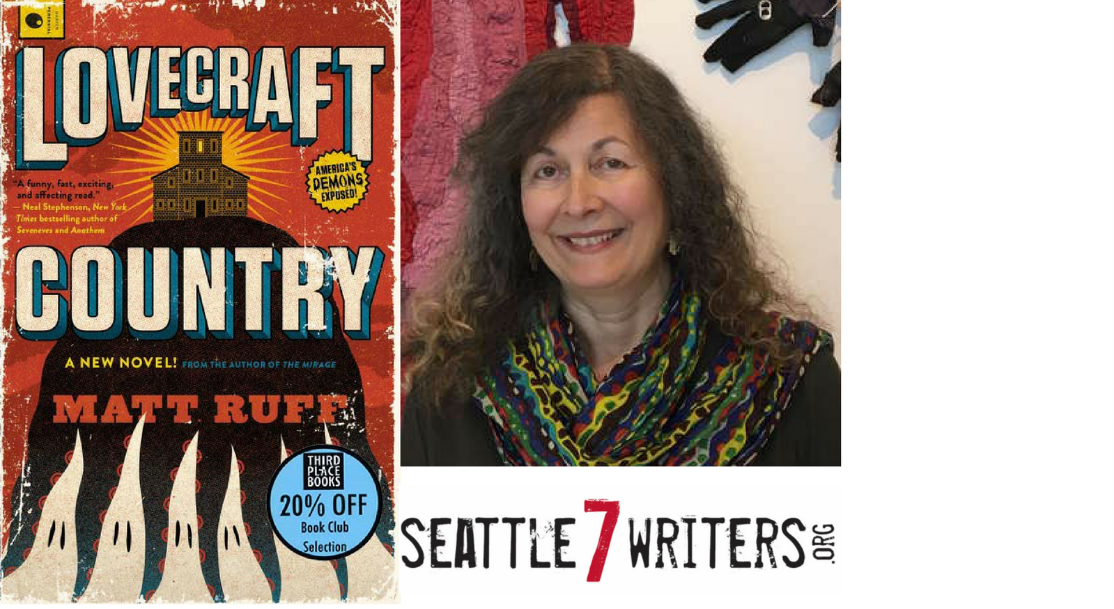Seattle7Writers' Book Club with Kathleen Alcala - Lovecraft Country