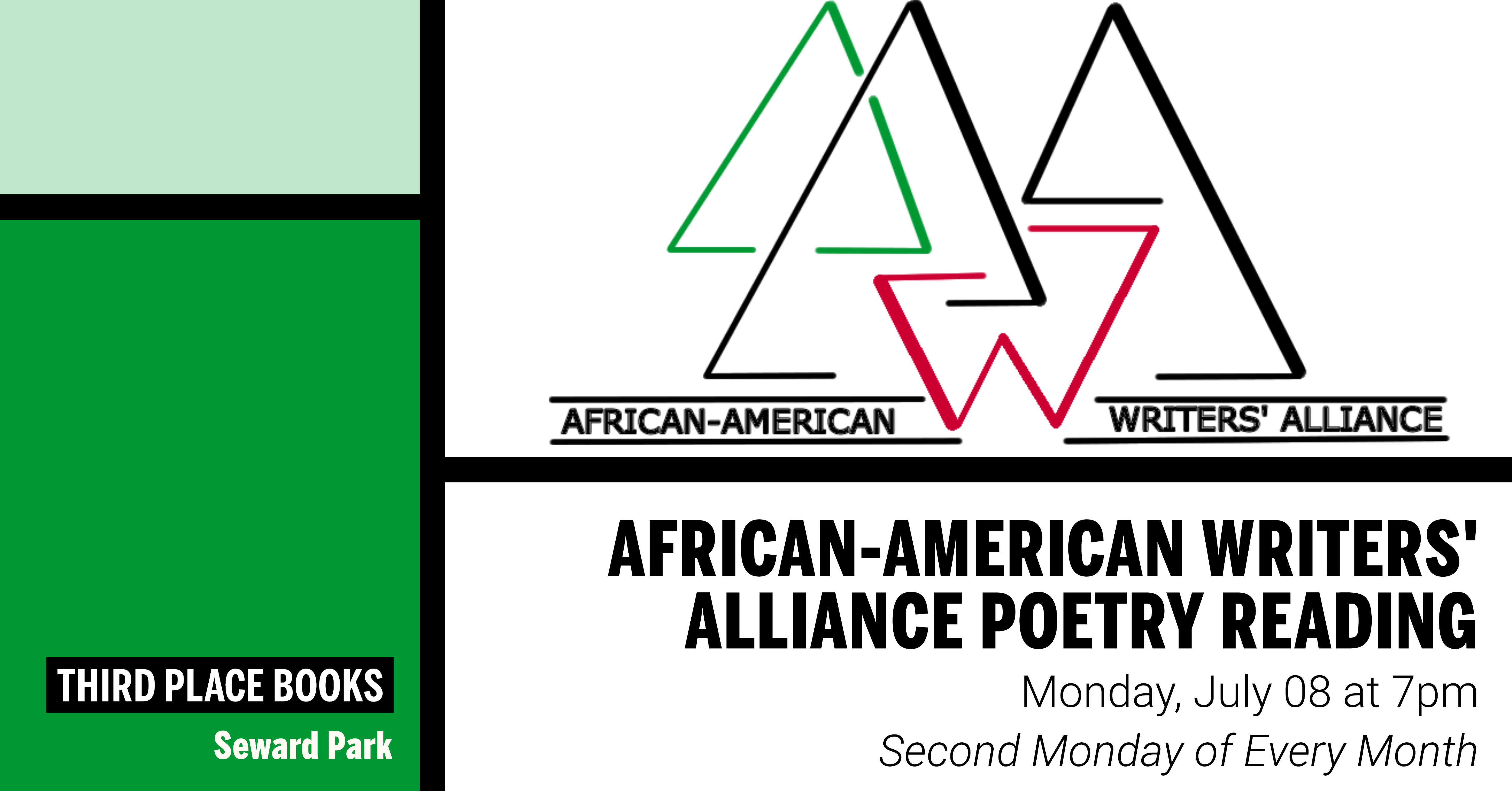 African-American Writers' Alliance Poetry Reading on Monday, July 8 at 7pm