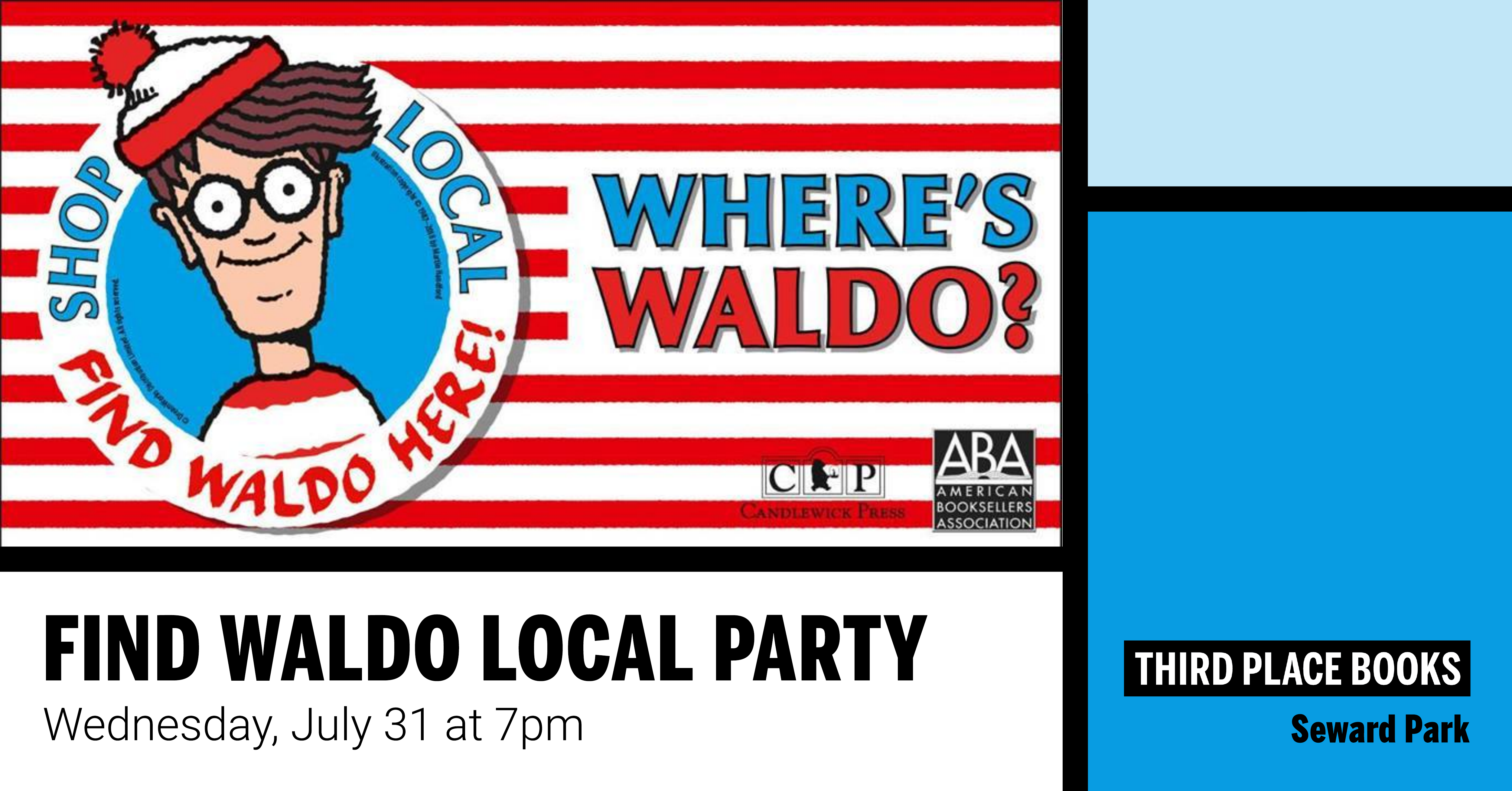 Find Waldo Local Party on Wednesday, July 31 at 7pm