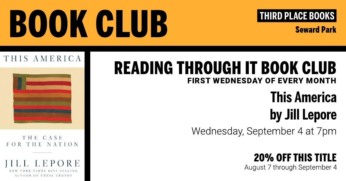 Reading Through It book club discusses This America at Third Place Books Seward Park