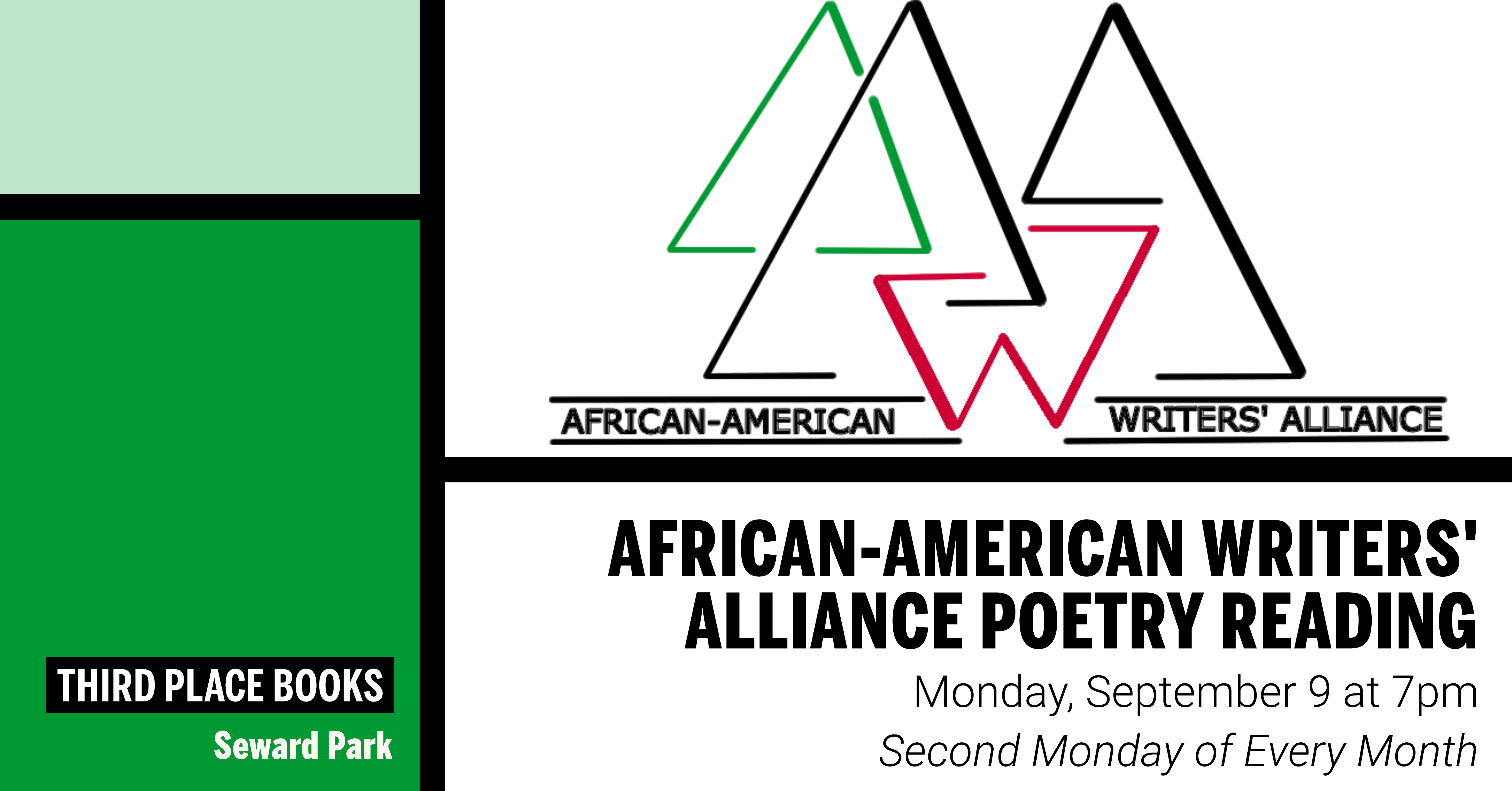 African-American Writers' Alliance Poetry Reading on Monday, September 9 at 7pm