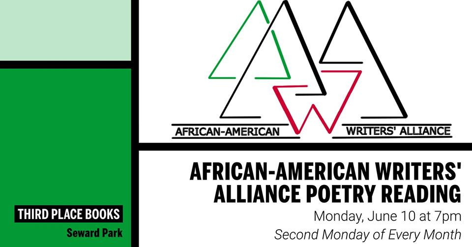 African-American Writers' Alliance Reading on Monday, June 10th at 7pm