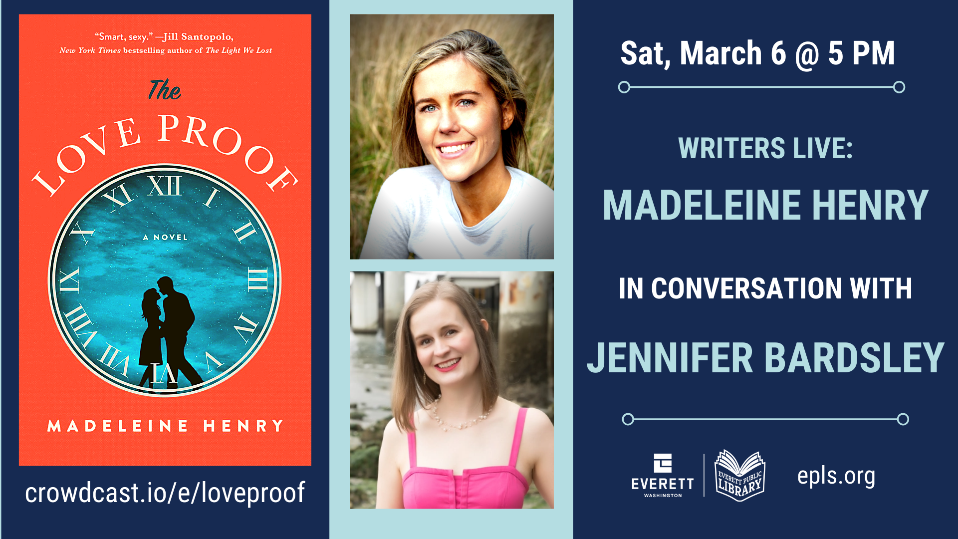 Everett Public Library: Madeline Henry in conversation with Jennifer Bardsley - The Love Proof