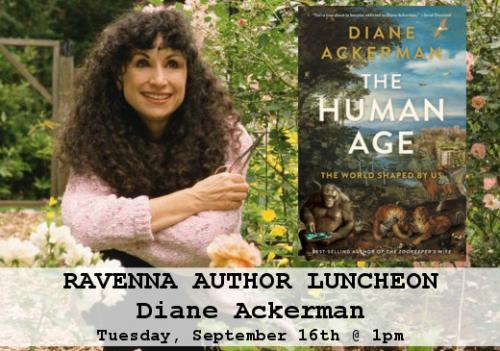 diane ackerman ravenna author luncheon